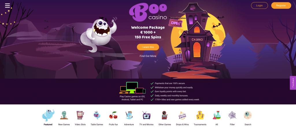 Boo Casino: Schnelle Auszahlungen, lizenzierte Spiele, große Jackpots